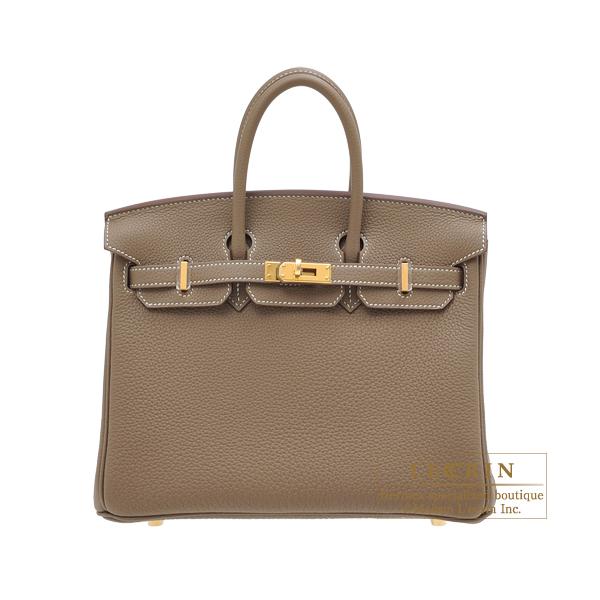 エルメス バーキン25 エトゥープ トゴ ゴールド金具 HERMES Birkin bag 25 Etoupe grey Togo leather Gold hardware