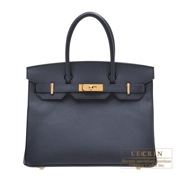 激安直営店 エルメス バーキン30 ブルーインディゴ ヴォーエプソン ゴールド金具 HERMES Birkin bag 30 Blue indigo Epsom leather Gold hardware, ドッグパラダイスぷらすニャン 44020c6c