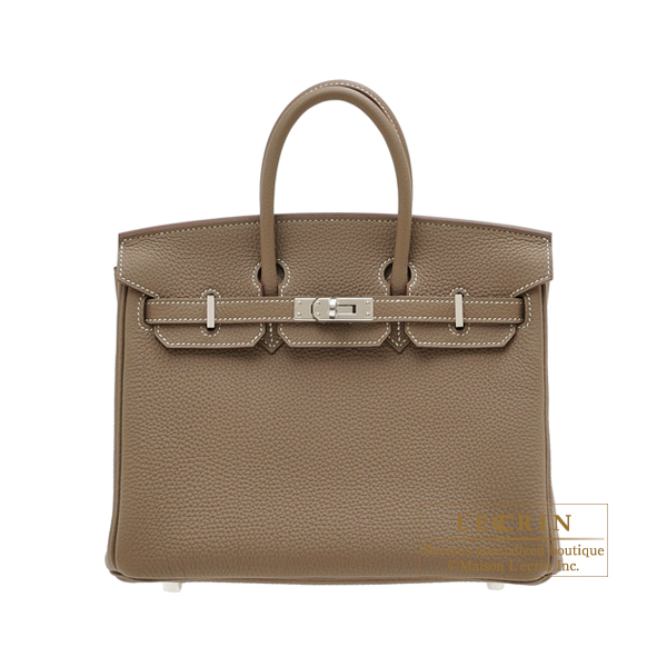エルメス バーキン25 エトゥープ トゴ シルバー金具 HERMES Birkin bag 25 Etoupe grey Togo leather Silver hardware