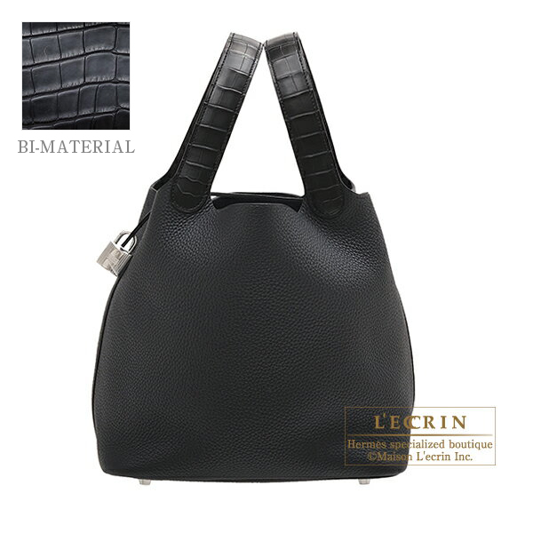 ... coupon code for hermes picotin lock touch bag mm black clemence leather  matt alligator crocodile skin 5a71c31a2f42c
