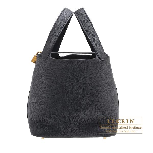 エルメス ピコタンロックMM ブラック トリヨンクレマンス ゴールド金具 HERMES Picotin Lock bag MM Black Clemence leather Gold hardware