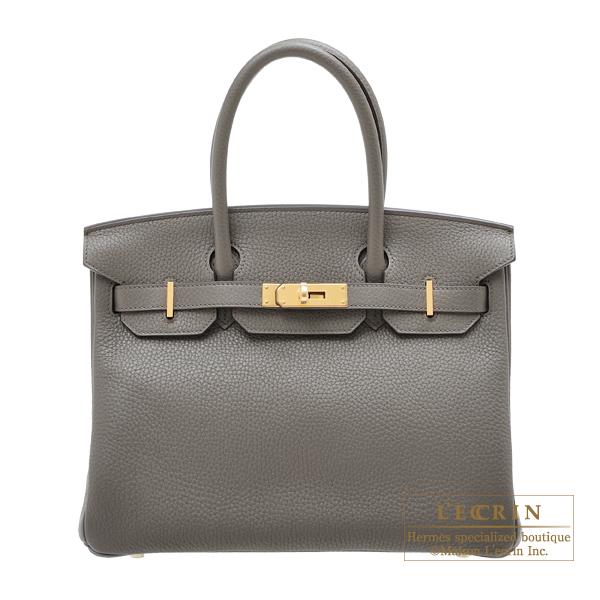 大人気の エルメス leather Gold バーキン30 bag エタン トリヨンクレマンス ゴールド金具 HERMES hardware Birkin bag 30 Etain Clemence leather Gold hardware, 東伊豆町:1b740ee3 --- online-cv.site