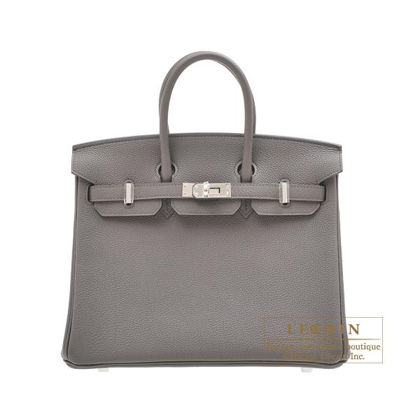 エルメス バーキン25 エタン トゴ シルバー金具 HERMES Birkin bag 25 Etain Togo leather Silver hardware