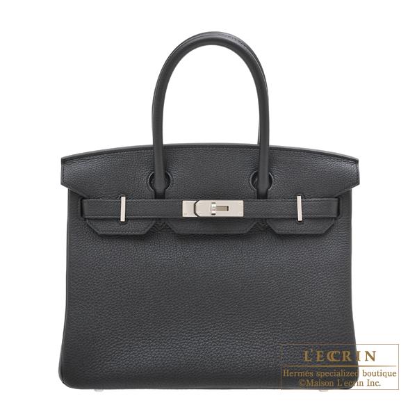 エルメス バーキン30 ブラック トゴ シルバー金具 HERMES Birkin bag 30 Black Togo leather Silver hardware