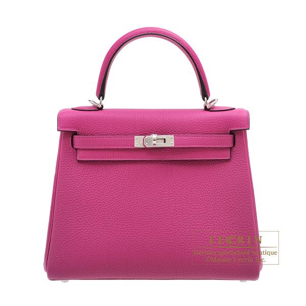 エルメス ケリー25/内縫い ローズパープル トゴ シルバー金具 HERMES Kelly bag 25 Retourne Rose purple Togo leather Silver hardware