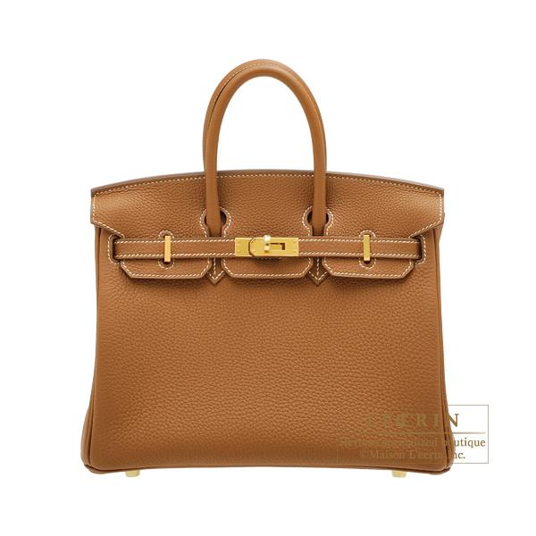 Hermes birkin Bag 25 gold togo Leather gold Hardware