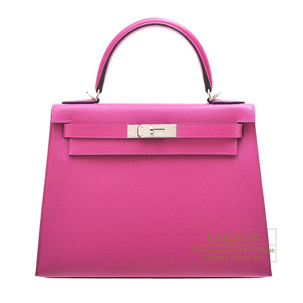 エルメス ケリー28/外縫い ローズパープル ヴォーエプソン シルバー金具 HERMES Kelly bag 28 Sellier Rose purple Epsom leather Silver hardware