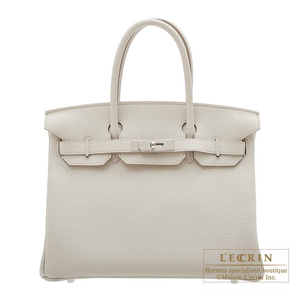 エルメス バーキン30 ベトン トゴ シルバー金具 HERMES Birkin bag 30 Beton Togo leather Silver hardware