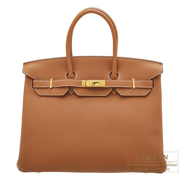 エルメス バーキン35 ゴールド トゴ ゴールド金具 HERMES Birkin bag 35 Gold Togo leather Gold hardware