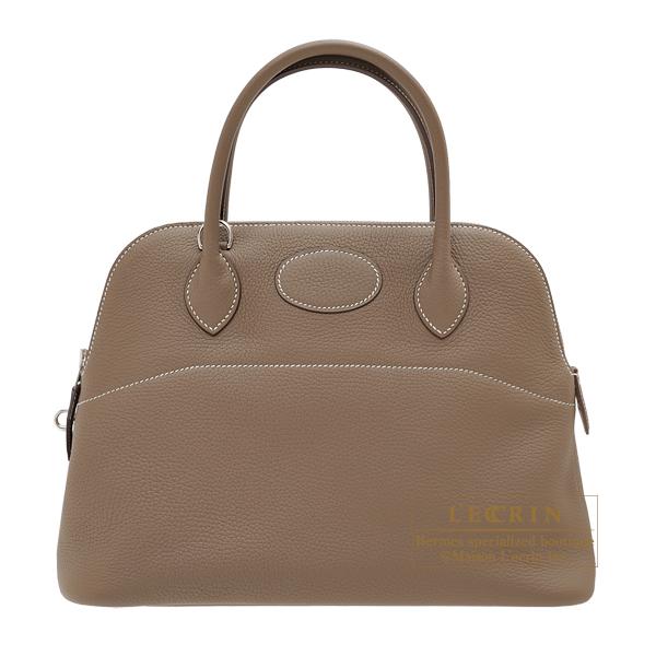 エルメス ボリード31 エトゥープ トリヨンクレマンス シルバー金具 HERMES Bolide bag 31 Etoupe grey Clemence leather Silver hardware