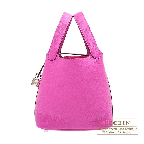 エルメス ピコタンロックPM マグノリア トリヨンクレマンス シルバー金具 HERMES Picotin Lock bag PM Magnolia Clemence leather Silver hardware