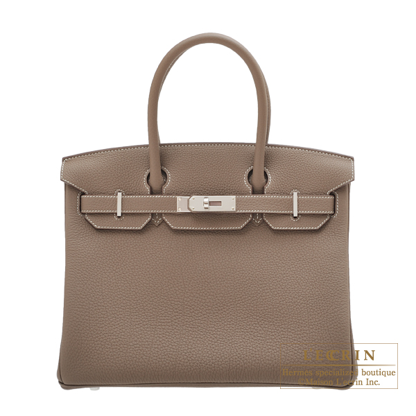 a183c35067d5 ... new zealand hermes birkin bag 30 etoupe grey togo leather silver  hardware a0916 adcc4