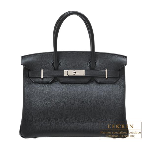 エルメス バーキン30 ブラック トリヨンノビーヨ シルバー金具 HERMES Birkin bag 30 Black Novillo leather Silver hardware