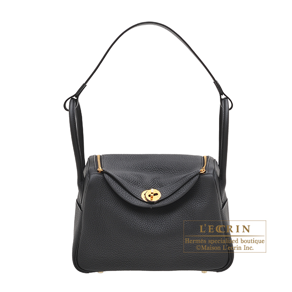 エルメス リンディ26 ブラック トリヨンクレマンス ゴールド金具 HERMES Lindy bag 26 Black Clemence leather Gold hardware