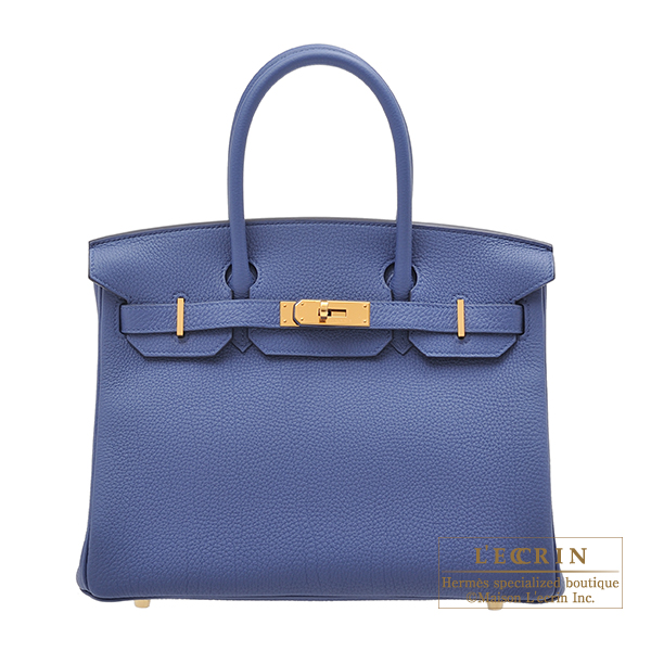 エルメス バーキン30 ブルーブライトン トゴ ゴールド金具 HERMES Birkin bag 30 Blue brighton Togo leather Gold hardware
