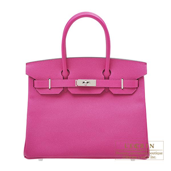 エルメス バーキン30 ローズパープル ヴォーエプソン シルバー金具 HERMES Birkin bag 30 Rose purple Epsom leather Silver hardware