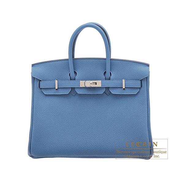 エルメス バーキン25 アズール トゴ シルバー金具 HERMES Birkin bag 25 Azur Togo leather Silver hardware