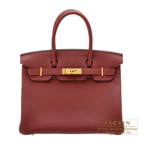 エルメス バーキン30 ルージュアッシュ トゴ ゴールド金具 HERMES Birkin bag 30 Rouge H Togo leather Gold hardware