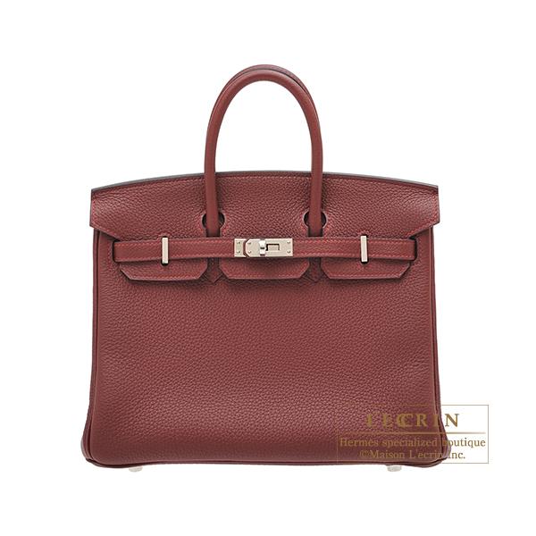 エルメス バーキン25 ルージュアッシュ トゴ シルバー金具 HERMES Birkin bag 25 Rouge H Togo leather Silver hardware