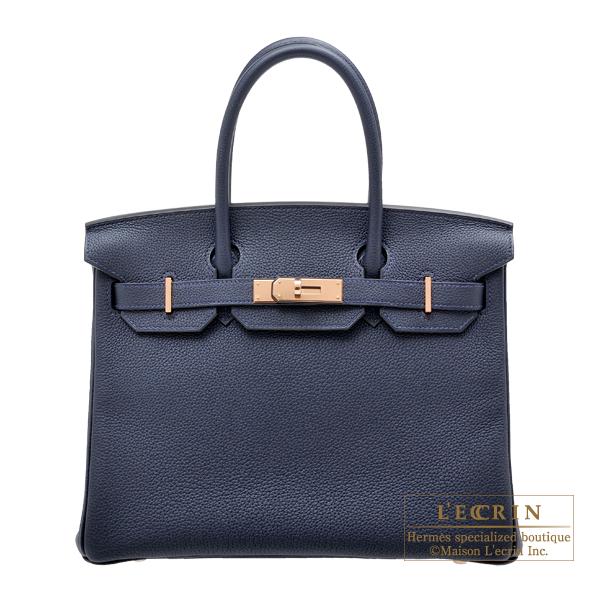 エルメス バーキン30 ブルーニュイ トゴ ローズゴールド金具 HERMES Birkin bag 30 Blue nuit Togo leather Rose gold hardware