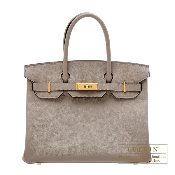 エルメス バーキン30 グリアスファルト ヴォーエプソン ゴールド金具 HERMES Birkin bag 30 Gris asphalt Epsom leather Gold hardware