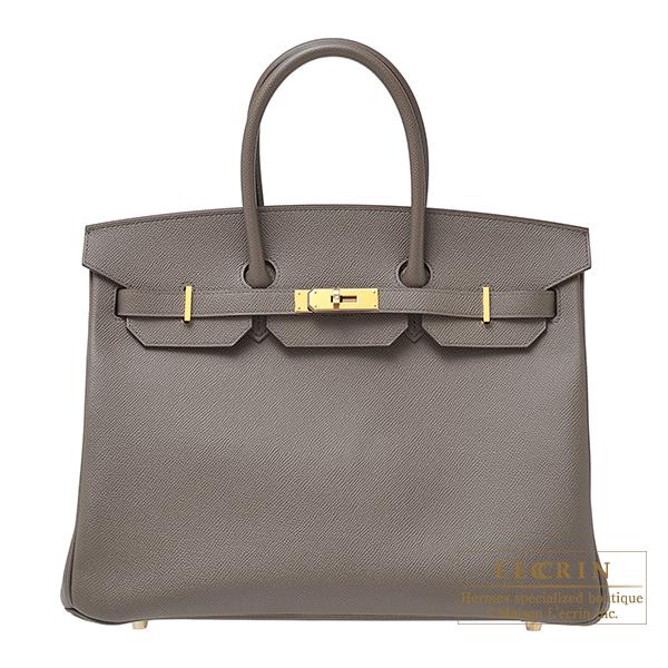 13568f9051 Lecrin Boutique Tokyo  Hermes Birkin bag 35 Etain Epsom leather Gold ...