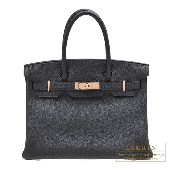 1f6457d5a35 Lecrin Boutique Tokyo  Hermes Birkin bag 30 Black Togo leather Rose ...