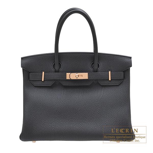 エルメス バーキン30 ブラック トゴ ローズゴールド金具 HERMES Birkin bag 30 Black Togo leather Rose gold hardware