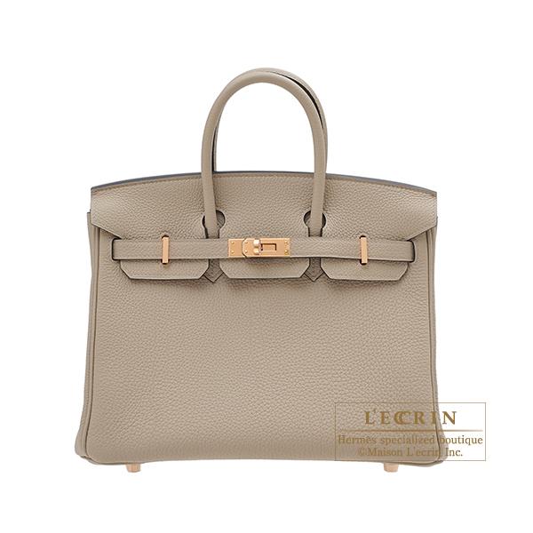 エルメス バーキン25 トゥルティエールグレー トゴ ローズゴールド金具 HERMES Birkin bag 25 Gris tourterelle Togo leather Rose gold hardware