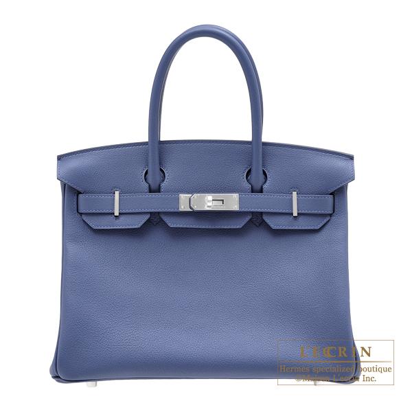 エルメス バーキン30 ブルーブライトン トリヨンノビーヨ シルバー金具 HERMES Birkin bag 30 Blue brighton Novillo leather Silver hardware