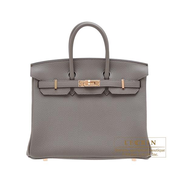 エルメス バーキン25 エタン トゴ ローズゴールド金具 HERMES Birkin bag 25 Etain Togo leather Rose gold hardware
