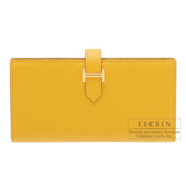 最終決算 エルメス ベアンスフレ ジョーヌアンブル ヴォーエプソン ゴールド金具 HERMES Bearn hardware Soufflet ambre Epsom Jaune leather Gold ambre Epsom leather Gold hardware, ショサンベツムラ:4d3ce400 --- evirs.sk