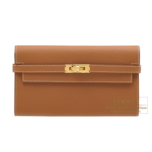 081d910498f Lecrin Boutique Tokyo  Hermes Kelly wallet long Gold Epsom leather ...