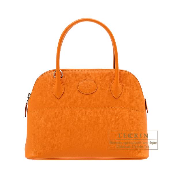 エルメス ボリード27 アプリコット ヴォーエプソン シルバー金具 HERMES Bolide bag 27 Apricot Epsom leather Silver hardware