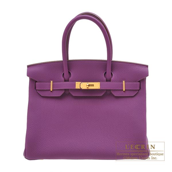 エルメス パーソナルバーキン30 アネモネ トゴ マットゴールド金具 HERMES Personal Birkin bag 30 Anemone Togo leather Matt gold hardware
