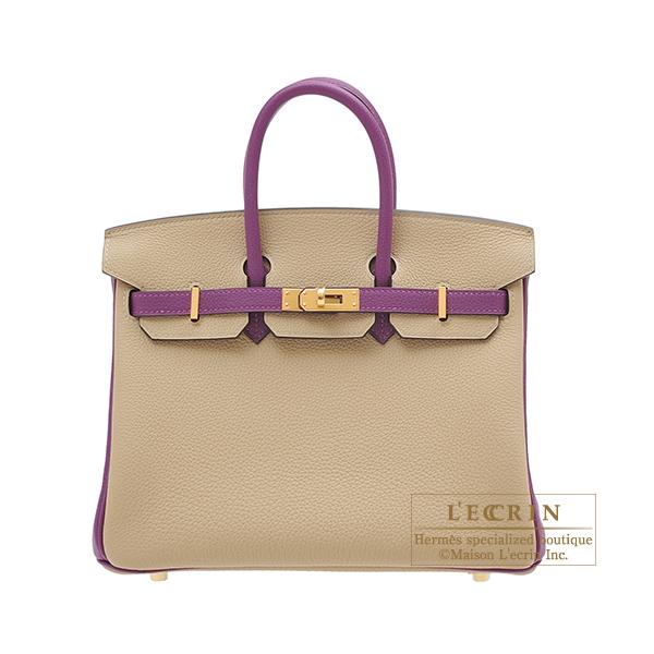 エルメス パーソナルバーキン25 トレンチ/アネモネ トゴ ゴールド金具 HERMES Personal Birkin bag 25 Trench/Anemone Togo leather Gold hardware