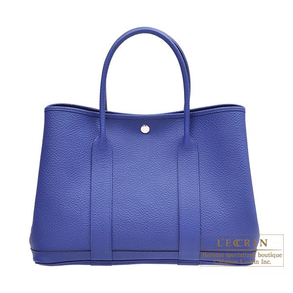 エルメス ガーデンパーティPM ブルーエレクトリック カントリー シルバー金具 HERMES Garden Party bag PM Blue electric Country leather Silver hardware