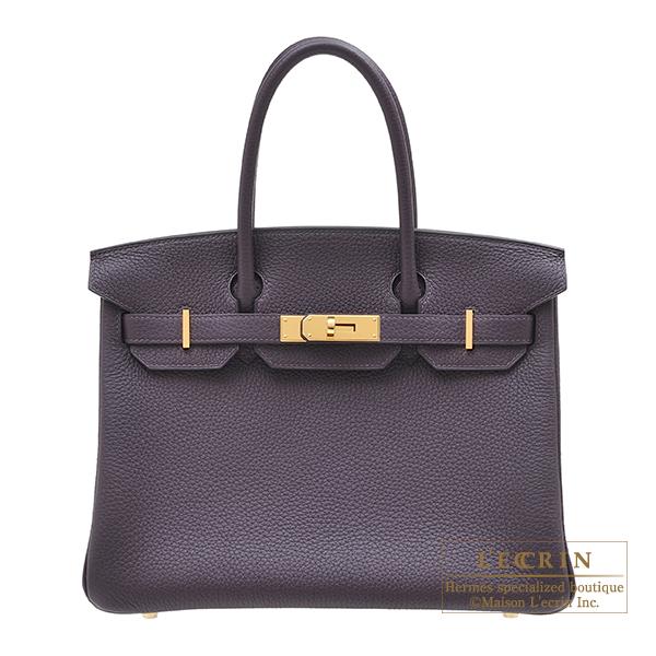 エルメス バーキン30 レザン トリヨンクレマンス ゴールド金具 HERMES Birkin bag 30 Raisin Clemence leather Gold hardware