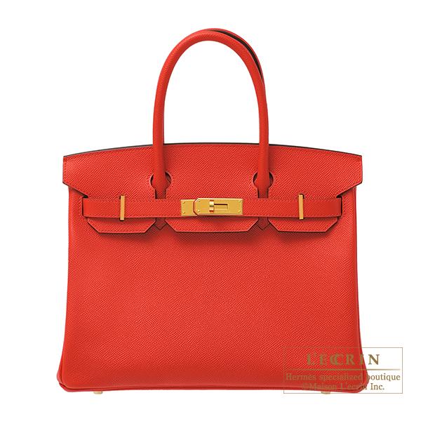 エルメス バーキン30 ルージュクー ヴォーエプソン ゴールド金具 HERMES Birkin bag 30 Rouge coeur Epsom leather Gold hardware