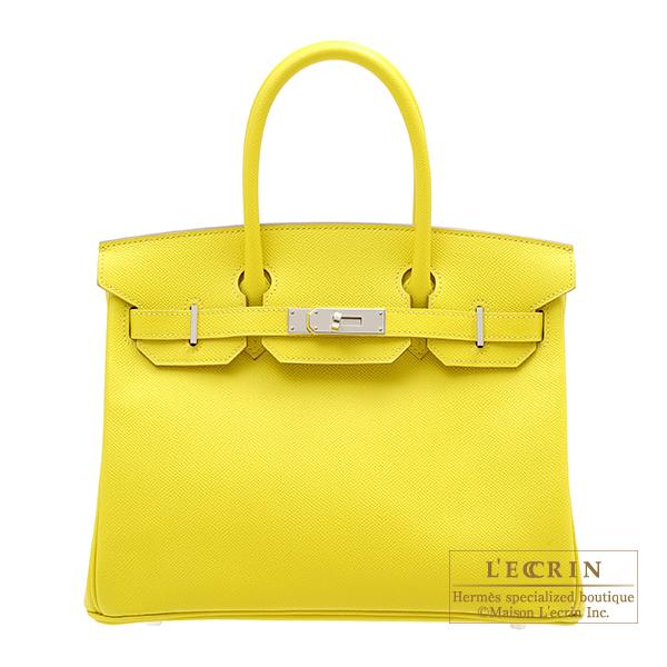 エルメス バーキン30 ライム ヴォーエプソン シルバー金具 HERMES Birkin bag 30 Lime Epsom leather Silver hardware