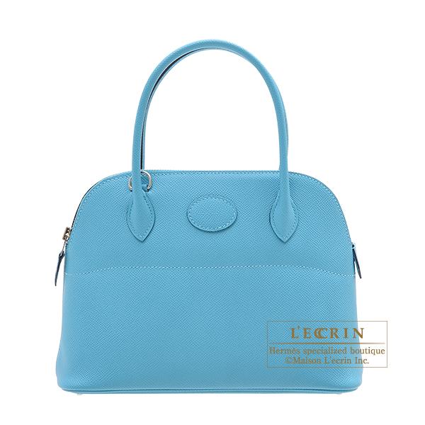 エルメス ボリード27 ブルーノール ヴォーエプソン シルバー金具 HERMES Bolide bag 27 Blue du nord Epsom leather Silver hardware