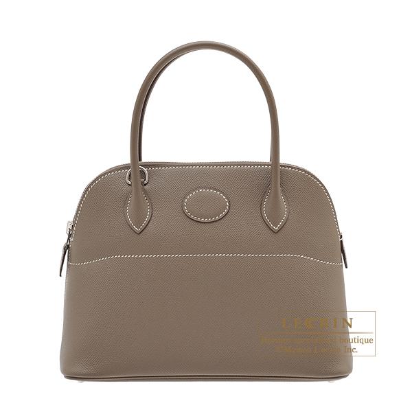 エルメス ボリード27 エトゥープ ヴォーエプソン シルバー金具 HERMES Bolide bag 27 Etoupe grey Epsom leather Silver hardware