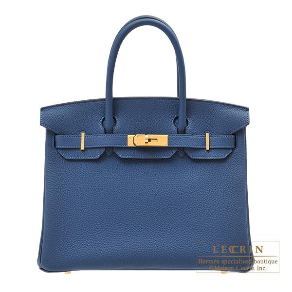 Hermes Birkin Bag 30 Deep Blue