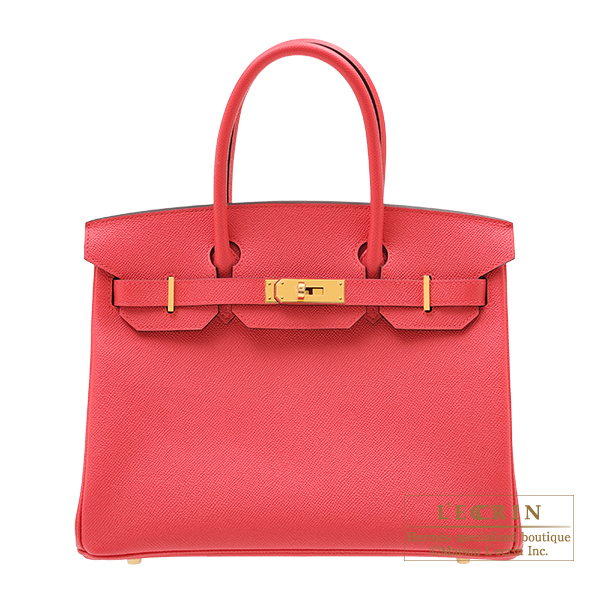 エルメス バーキン30 ローズエクストリーム ヴォーエプソン ゴールド金具 HERMES Birkin bag 30 Rose extreme Epsom leather Gold hardware
