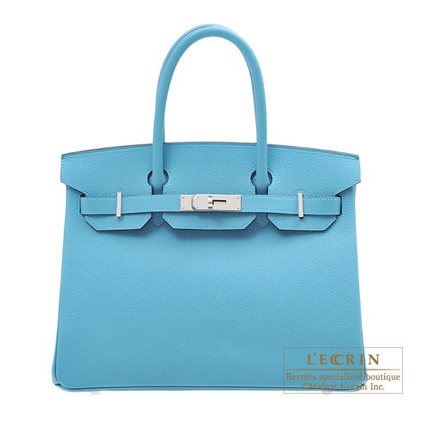 エルメス バーキン30 ブルーノール ヴォーエプソン シルバー金具 HERMES Birkin bag 30 Blue du nord Epsom leather Silver hardware