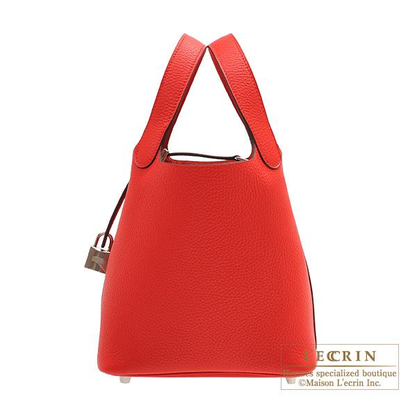 エルメス ピコタンロックPM ルージュクー トリヨンクレマンス シルバー金具 HERMES Picotin Lock bag PM Rouge coeur Clemence leather Silver hardware