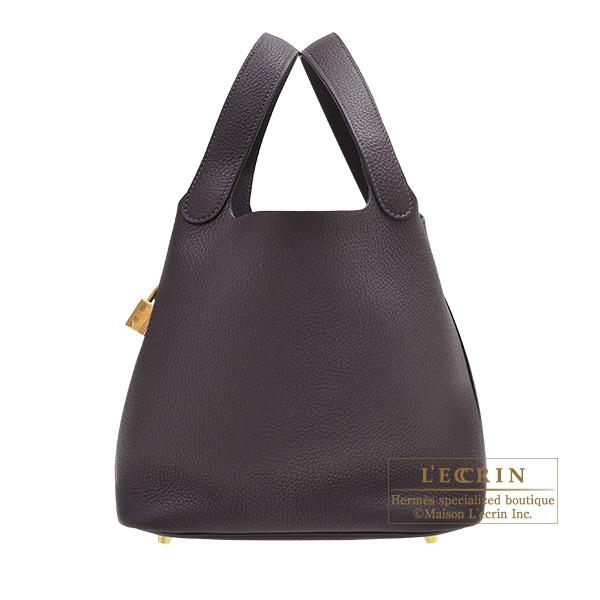 エルメス ピコタンロックMM レザン トリヨンクレマンス ゴールド金具 HERMES Picotin Lock bag MM Raisin Clemence leather Gold hardware