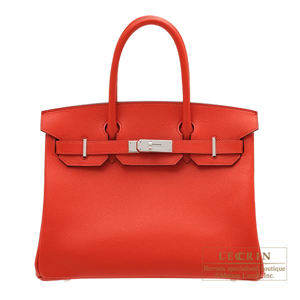 エルメス バーキン30 ルージュクー ヴォーエプソン シルバー金具 HERMES Birkin bag 30 Rouge coeur Epsom leather Silver hardware