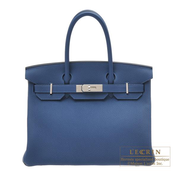 最も優遇の エルメス バーキン30 hardware ディープブルー トゴ シルバー金具 HERMES bag Birkin blue Togo bag 30 Deep blue Togo leather Silver hardware, 花のアリマツ:1c650507 --- fotostrba.sk