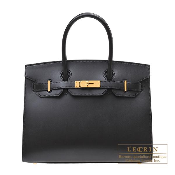 エルメス バーキンセリエ30 ブラック ムッシュ ゴールド金具 HERMES Birkin Sellier bag 30 Black Monsieur leather Gold hardware
